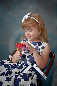 Portrait Of Pretty Little Girl Stock Photography - Image: 13848352