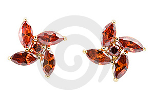 Coloured Earrings On White Royalty Free Stock Photo - Image: 13849245