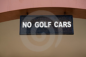 Golf Car Sign. Royalty Free Stock Image - Image: 13849796