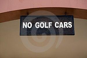 Golf Car Sign. Royalty Free Stock Image - Image: 13849796