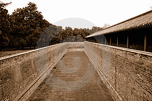 Dry Moat-The Palace Of Abstinence Royalty Free Stock Photography - Image: 13849897