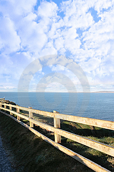 Cold Frosty Winters Cliff Walk Stock Photography - Image: 13850472