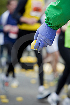 Bringing Refreshment To Marathon Runners Stock Photography - Image: 13851442