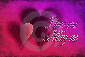 I Love You, Marry Me Stock Photo - Image: 13852040