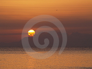Mediterranean Sunset Royalty Free Stock Images - Image: 13852279