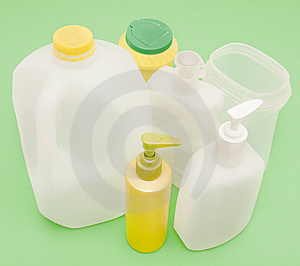 Collection Of Plastic Containers For Recycling Royalty Free Stock Photography - Image: 13854767