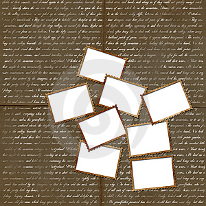 Grunge Background With Postage Stamps For Design Stock Image - Image: 13856541