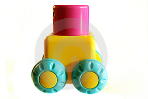 Toy Block On Wheels Stock Photos - Image: 13857153