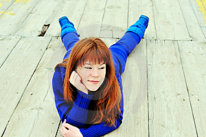Cunning Redheaded Girl Royalty Free Stock Photography - Image: 13857437