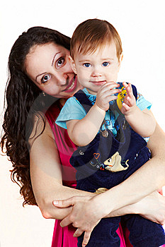 Mother With Son Carring On Hands 1 Royalty Free Stock Photo - Image: 13858805