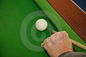 Cueing The White Ball Stock Photos - Image: 13861263