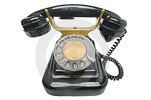 Old Vintage Black Phone With Disc Dials Royalty Free Stock Photos - Image: 13862228