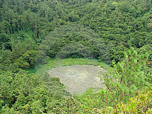 Crater Vegetation Stock Photography - Image: 13862602