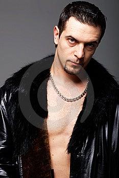 Man In Leathe Jacket. Stock Image - Image: 13862791