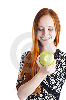 Apple In Hands Of The Girl Royalty Free Stock Photos - Image: 13863128