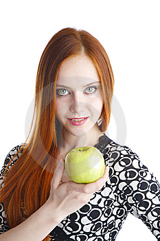 Apple In Hands Of The Girl Stock Image - Image: 13863141