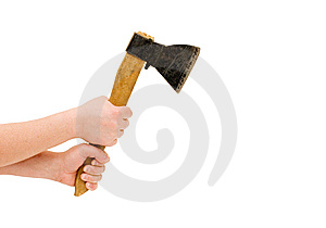 Isolated Image Of Axe In Man Hand Stock Image - Image: 13864201