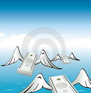 Flying Moneys Royalty Free Stock Image - Image: 13869466