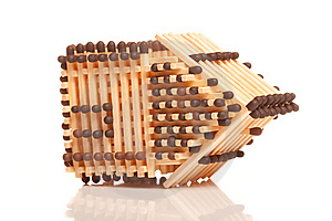 Overturn House From Matches Stock Photo - Image: 13870240