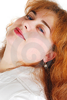 Woman With Red Hears. Stock Image - Image: 13871661