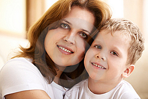 Mother Hugging Her Little Son Royalty Free Stock Photography - Image: 13873547