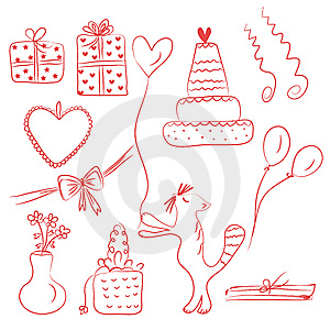 Birthday Holiday Doodle Royalty Free Stock Images - Image: 13876389