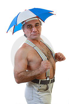 Man With An Umbrella Royalty Free Stock Image - Image: 13877526