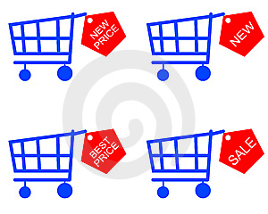 Handcart And Price List Royalty Free Stock Photography - Image: 13878167