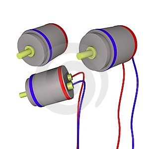 3d Electrical Motors Royalty Free Stock Photography - Image: 13878517