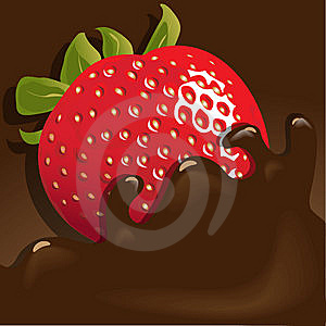 Strawberry In Chocolate Stock Photography - Image: 13879762