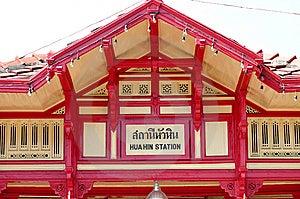 Hua-Hin Train Station Royalty Free Stock Photography - Image: 13880287