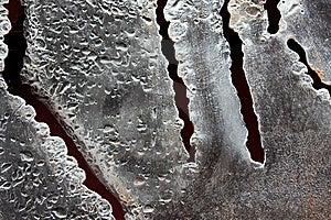 Bizarre Torn Steel Surface Stock Photo - Image: 13881280
