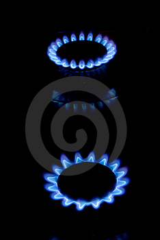 Blue Flame Stoves Stock Photos - Image: 13881393
