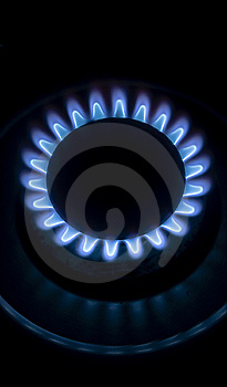 Big Blue Flame Stove Royalty Free Stock Photo - Image: 13881405