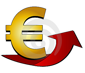 Euro Sign With Arrow Stock Image - Image: 13882261