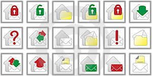 Vectorized Mail Buttons Stock Photos - Image: 13883713
