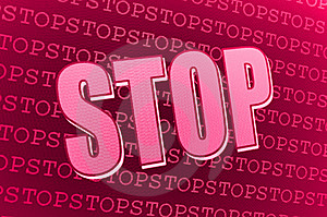 Red Pink Stop Sign Royalty Free Stock Photography - Image: 13885227