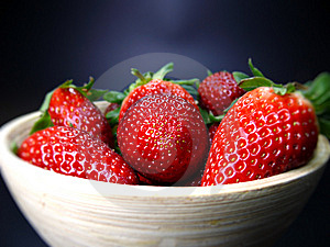 Bowl Of Strawberries Stock Photos - Image: 13885363