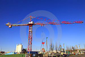 Large Crane At Work. Stock Images - Image: 13885554