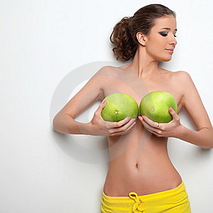 Sexual Girl And Citrus Pamela Stock Images - Image: 13887964