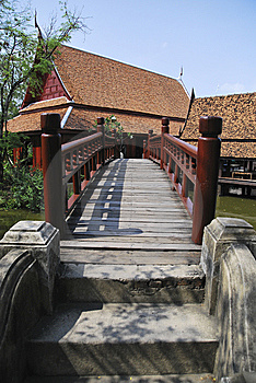 Red Wooden Bridge Stock Photos - Image: 13889003
