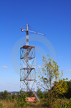 Parachute Tower For Educational Jumps Stock Images - Image: 13891574