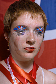 Great Britain Flag Face Art Stock Photos - Image: 13892453