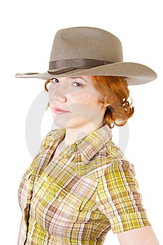 Girl In Cowboy Hat Stock Photography - Image: 13892532