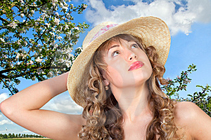 Closeup Portrait Of A Cute Young Woman Royalty Free Stock Photography - Image: 13892587