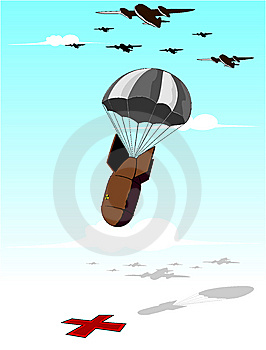 Falling Bomb Illustration Stock Photography - Image: 13892852