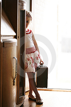 Little Girl Being Shy Or Scared Stock Photos - Image: 13893673