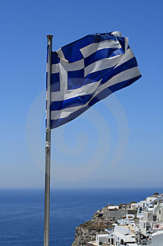 Greek Flag Stock Image - Image: 13893821
