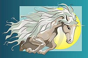 Jumping Unicorn Royalty Free Stock Photography - Image: 13893917