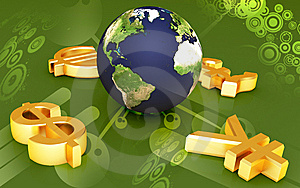 World And World Currency Stock Image - Image: 13896371